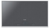 "CIT367TMS Thermador 36"" Liberty Frameless Induction Cooktop with MoveMode and HeatShift - Silver Mirrored Finish with Stainless Steel Frame"