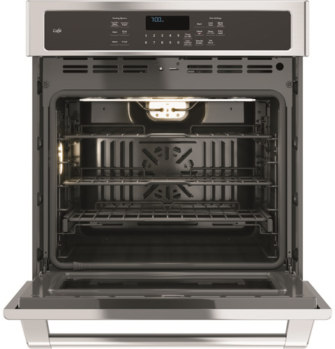 """CK7000SHSS GE Cafe 27"""" Built-In Single Convection Wall Oven with True European Convection - Stainless Steel"""