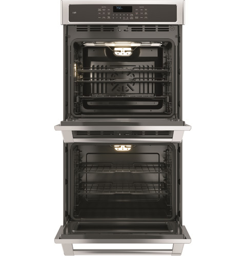 "CK7500SHSS GE Cafe 27"" Built-In Double Convection Wall Oven True European Convection (Upper Oven) - Stainless Steel"