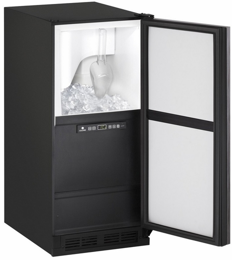"""CLR1215INT40B U-Line 1000 Series 15"""" Wide Clear Ice Maker - Pump Included - Field Reversible - Integrated Solid Custom Panel"""