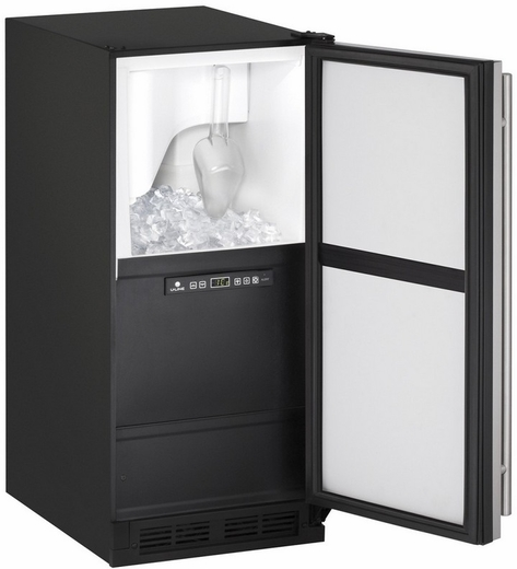 """CLR1215S00B U-Line 1000 Series 15"""" Wide Clear Ice Maker - Pump Not Included - Field Reversible - Stainless Steel"""
