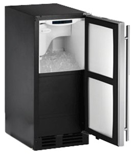 CLR2160B40 U-Line 2000 Series Undercounter Clear Ice Maker with Pump - Right Hinge - Black