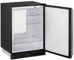 "CO1224FS-00B U-Line 1000 Series 24"" Wide Combo Refrigerator & Ice Maker Holds up to 62 Bottles - Field Reversible - Stainless Steel"