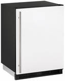 """CO1224FW00B U-Line 1000 Series 24"""" Wide Combo Refrigerator & Ice Maker Holds up to 62 Bottles - Field Reversible - White"""