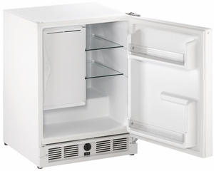 "CO29FW-00A U-Line 21"" Wide ADA Series Combo Undercounter Refrigerator & Ice Maker - Field Reversible - White"