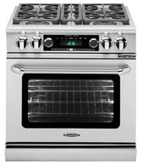 "COB304SSLP Capital 30"" Connoisseurian Dual Fuel Self-Clean Range with 4 Open Burners - Liquid Propane - Stainless Steel"