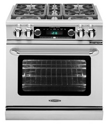 "COB304N Capital 30"" Connoisseurian Dual Fuel Self-Clean Range with 4 Open Burners - Natural Gas - Stainless Steel"