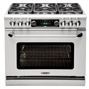 "COB366N Capital 36"" Connoisseurian Dual Fuel Self-Clean Range with 6 Open Burners - Natural Gas - Stainless Steel"