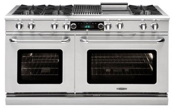 """COB604BB2N Capital 60"""" Connoisseurian Dual Fuel Self-Clean Range with 6 Open Burners + Two 12"""" Broil Burners with Commercial Grates - Natural Gas - Stainless Steel"""