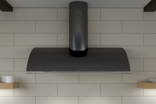 """COKE36BBMX Zephyr Cheng Collection Limited Edition Okeanito 36"""" Wall Hood - Black Mirror Stainless Steel"""