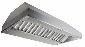 """CP57IQT542SB Best 54"""" x 22.5"""" depth Stainless Steel Built-In Range Hood with iQ12 Blower System, 1200 CFM"""