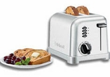 CPT-160 Cuisinart Metal Classic 2 Slice Toaster With Brushed Stainless Steel Housing