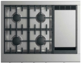 "CPV2364GDN DCS 36"" Wide Professional Cooktop with 4 Burners and Griddle- Natural Gas - Stainless Steel"