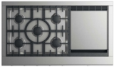 "CPV2485GDN DCS 48"" Professional Cooktop with 5 Burners and Griddle - Natural Gas - Stainless Steel"