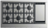 "CPV2486GDL DCS 48"" Professional Cooktop with 6 Burners and Griddle - Liquid Propane - Stainless Steel"