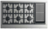 "CPV2486GLL DCS 48"" Professional Cooktop with 6 Burners and Grill - Liquid Propane - Stainless Steel"