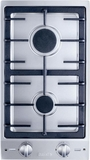 CS1012LP Miele Double Gas Burner Cooktop - Liquid Propane - Stainless Steel/Black