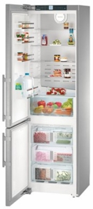 "CS1321L Liebherr 24"" Freestanding/Semi Built-In Bottom Mount Refrigerator with DuoCooling Technology and Electric Display - Left Hinge - Stainless Steel"