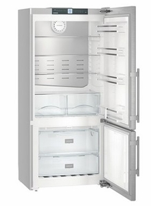 """CS1400RIM Liebherr 30"""" Freestanding/Semi Built-In Bottom Mount Refrigerator with DuoCooling Technology and Ice Maker - Right Hinge - Stainless Steel"""