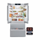 "CS2062 Liebherr 36"" Freestanding Semi-Built In Cabinet Depth French Door Refrigerator with Icemaker - Stainless Steel"