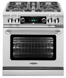 """CSB304LP Capital 30"""" Connoisseurian Dual Fuel Self-Clean Range with 4 Sealed Burners - Liquid Propane - Stainless Steel"""