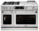 "CSB488N Capital 48"" Connoisseurian Dual Fuel Self-Clean Range with 8 Sealed Burners - Natural Gas - Stainless Steel"