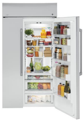 """CSB48WSKSS GE Cafe 48"""" 29.6 cu. ft. Built-in Side by Side Refrigerator with Upfront temperature control and Advanced Water Filtration - Stainless Steel"""