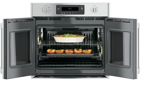 "CT9070SHSS GE Cafe 30"" Built-In French-Door Single Convection Wall Oven - Stainless Steel"