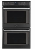 "CT9550EKDS GE Cafe 30"" Double Wall Oven with Self-Clean and Proof Mode - Black Slate"