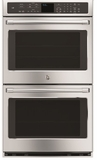 "CT9550SHSS GE Cafe 30"" Built-In Double Convection Wall Oven with Wi-Fi Connect - Stainless Steel"