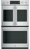 "CT9570SLSS GE 30"" Cafe Series Built-In Double Convection Wall Oven with Wi-Fi Connect and Electric Dial Controls - Stainless Steel"
