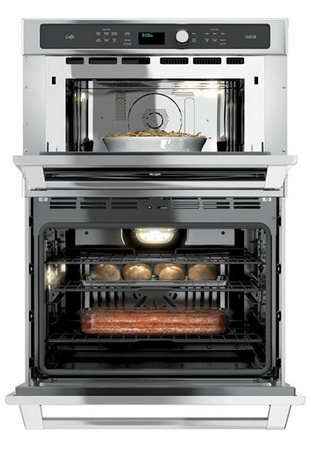 """CT9800SHSS GE Cafe 30"""" Built-In Combination Advantium/Convection Wall Oven - Stainless Steel"""