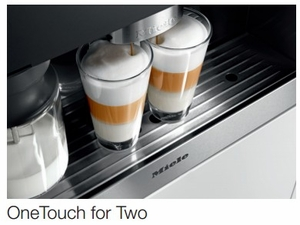 CVA6405SS Miele PureLine Plumbed Whole Bean Built-In Coffee System with DirectSensor Controls - Stainless Steel