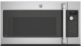 "CVM9179SLSS Cafe 30"" 1.7 cu. ft. Convection Over-the-Range Microwave Oven with Steam Cook Button and LED Cooktop Lighting - Stainless Steel"