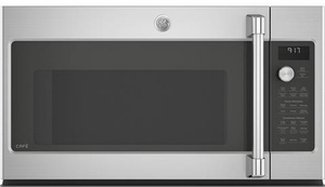 "CVM9179SLSS GE 30"" Cafe Series 1.7 cu. ft. Convection Over-the-Range Microwave Oven with Steam Cook Button and LED Cooktop Lighting - Stainless Steel"