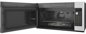 "CVM9179SLSS Cafe 30"" 1.7 cu. ft. Convection Over-the-Range Microwave Oven with Steam Cook Button and LED Cooktop Lighting - Stainless Steel - CLEARANCE"