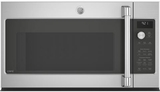 "CVM9215SLSS GE 30"" Cafe Series 2.1 cu. ft. Convection Over-the-Range Microwave Oven with Steam Cook Button and LED Cooktop Lighting - Stainless Steel"