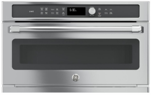 """CWB7030SLSS GE Cafe 30""""  Electric Convection Wall Oven with Built-In Microwave and Steam sensor - Stainless Steel"""