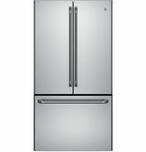 refrigerator with internal water dispenser. CWE23SSHSS GE Cafe Energy Star 23.1 Cu. Ft. Counter Depth French-Door Refrigerator With Internal Water Dispenser A