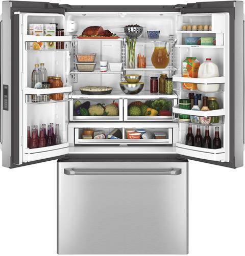 CWE23SSHSS GE Cafe Energy Star 23.1 Cu. Ft. Counter Depth French-Door Refrigerator with Internal Water Dispenser - Stainless Steel