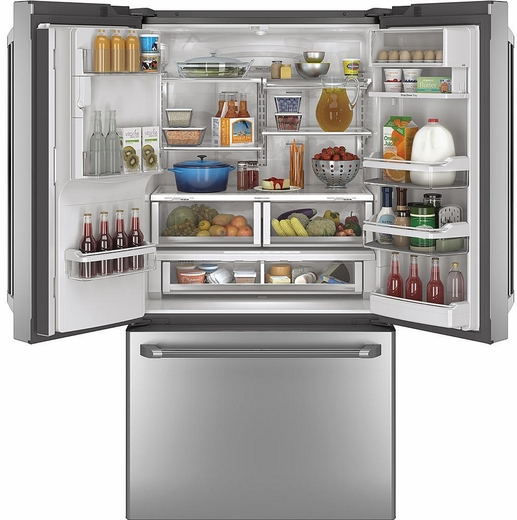 CYE22TSHSS GE Cafe Energy Star 22.1 Cu. Ft. Counter Depth French Door  Refrigerator With Hot Water Dispenser ...