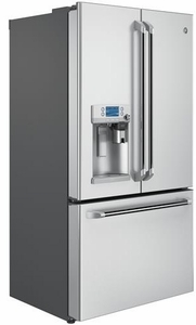 """CYE22USHSS Cafe 36"""" Energy Star 22.2 Cu. Ft. Counter Depth French-Door Refrigerator with Keurig K-Cup Brewing System - Stainless Steel"""