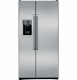 CZS25TSESS GE Cafe 24.6 Cu. Ft. Counter Depth Side-by-Side Refrigerator - Stainless Steel
