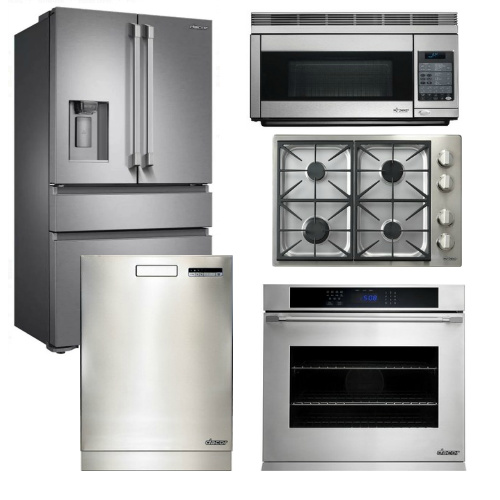Package D3 - Dacor Appliance 5 Piece Kitchen Package with Cooktop + Oven - Stainless Steel