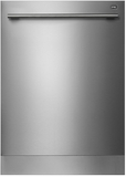 """D5656XXLHSTH Asko 24"""" Fully Integrated Built-in Dishwasher with Turbo Controls & Tubular Handle - Stainless Steel"""