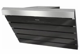 "DA6796WBL Miele 36"" Angled Wall Mounted Hood with 625 CFM and 4 Fan Speeds - Obsidian Black"