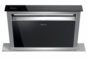 "DA6881EB Miele 30"" 1000 CFM Downdraft Ventilation Hood with LED ClearView Lighting and 4 Fan Speeds - Stainless Steel"
