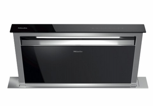 "DA6891EB Miele 36"" 1000 CFM Downdraft Ventilation Hood with LED ClearView Lighting and 4 Fan Speeds - Stainless Steel"