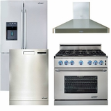 Package 22 - Dacor Luxury Kitchen Package with Gas Range - Stainless Steel