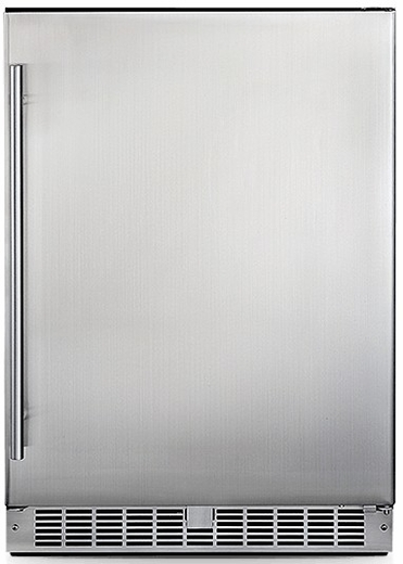 "DAR055D1BSSPRO Danby Silhouette Aragon 24"" Integrated All Refrigerator with Smudge Resistant Stainless Steel - Alarm Equiped"